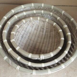 ☆竹ざる 木製ざる ぬくもりを感じる自然素材◆大中小3点セット