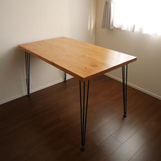 無垢材🌳4人掛けダイニングテーブル120cm
