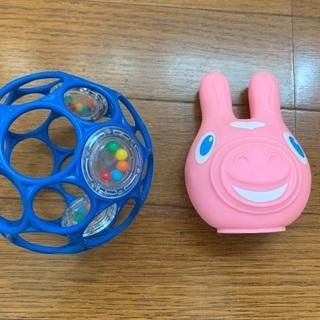 赤ちゃんのおもちゃ オーボールと音の鳴るロディのおもちゃ