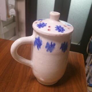 陶器のポット   Ф7.5  高さ14.5