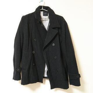 メンズ Pコート ブラック
