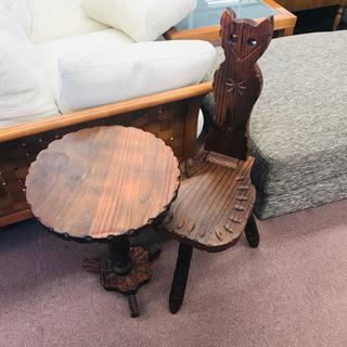 値下げしました!木製  かわいい テーブル&イス