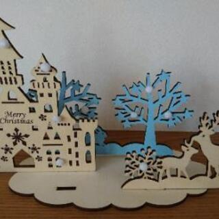 クリスマス 木製 インテリア 飾り 組み立て式