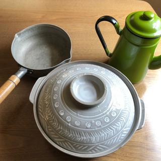 (取引決定しました)土鍋とかもらってください。オール電化にしたので。