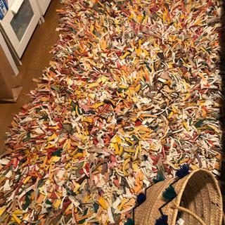 ラグマット「MUSUBU」 サイズ約110×180センチ 【インテリア好きな方に!】の画像