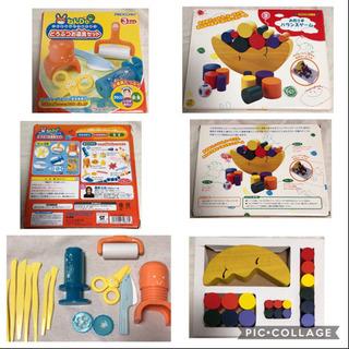 知育玩具まとめ売り 100玉そろばん パズル2個 バランスゲーム 釣りゲーム ねんど道具 - 売ります・あげます