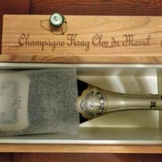クリュッグ クロ·デュ·メニル 木箱と空瓶