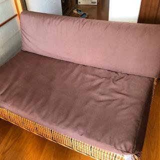 アジアン家具 二人掛けソファ