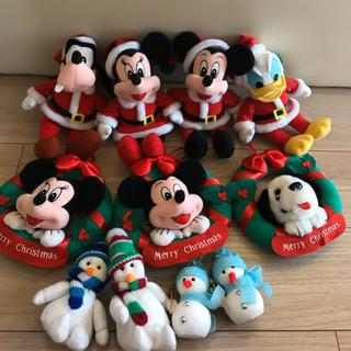 ディズニークリスマススタイルのぬいぐるみ&リース