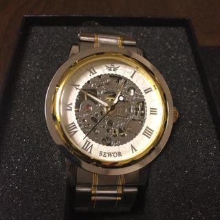 SEWOR 腕時計 スケルトン 新品