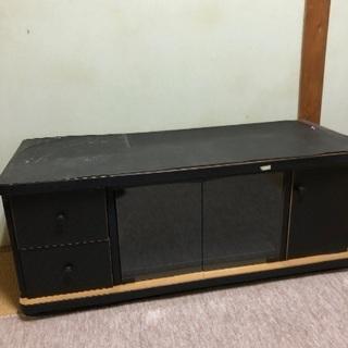 ③黒 テレビ台 収納 ボード