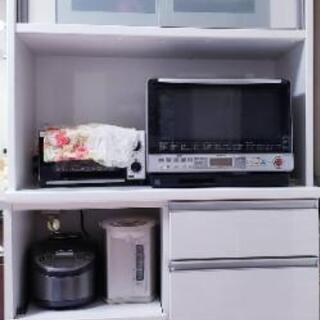 【値下げ】レンジボード 松田家具 ホワイト☆モイス加工