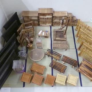 ミニチュア家具 和風 水屋箪笥 茶箪笥 階段箪笥 鏡台 ち…