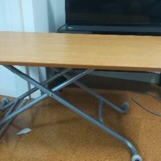 【机・テーブル】110cm×55cm 高さ調節可能(0cm-65cm)