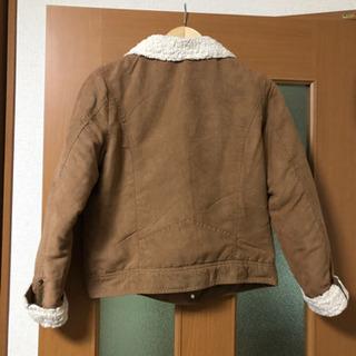 ボア付ライダースジャケット(スエード生地) - 服/ファッション