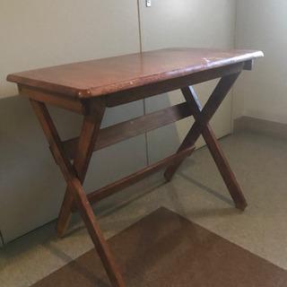 受け渡し完了!折りたたみテーブル 学習机 パソコン机 木目 木製...