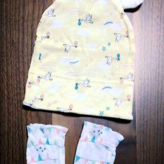 【未使用】新生児用 帽子、靴下