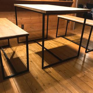 ダイニングテーブル セット アイアン ウッド