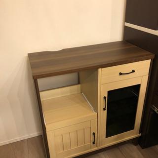 新品未使用▲カウンター キッチン  飾り棚 食器棚