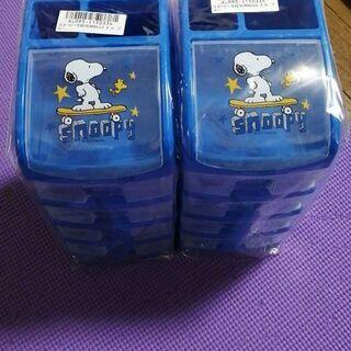 スヌーピー5段収納ボックス ブルー 2個