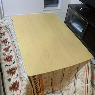 美品 コタツテーブル、コタツ布団