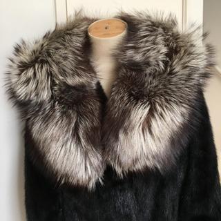 ブラックミンクコートとシルバーフォックスの2点セット