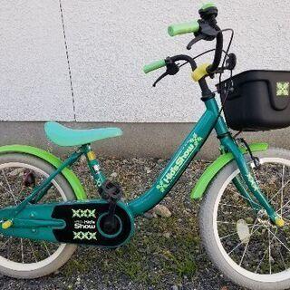 自転車 18インチ 緑色