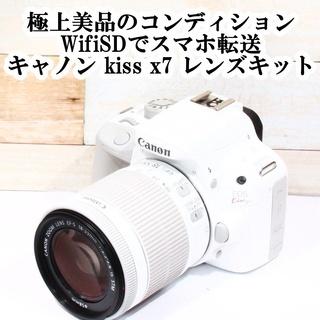 ★極上美品&スマホ転送★キヤノン kiss x7 STMレンズキット