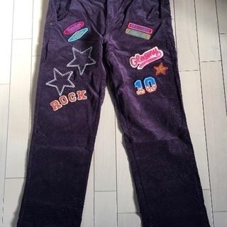 rough コーデュロイ 紫 パンツ