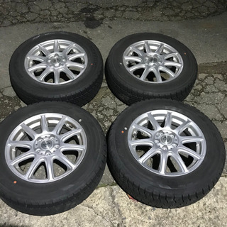 195/65R15 スタッドレスタイヤアルミ付き 5穴PCD100