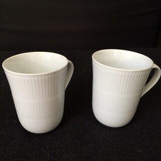 ロイヤルコペンハーゲン マグカップ 2個セット(ホワイト)