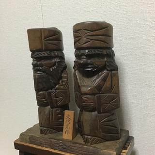 ニポポ   木彫り人形  天地光作