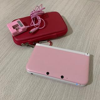 【美品】3DS LL ピンク(充電器、ケース、ソフト2本付)