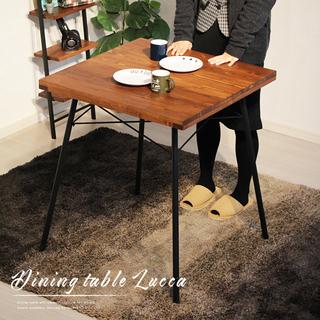 ブルックリンスタイルの無垢材ダイニングテーブル おしゃれ♫