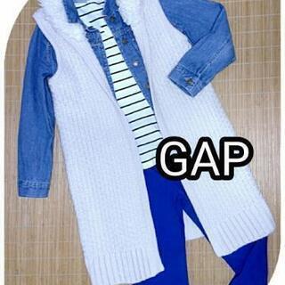 【GAP/ギャップ】ロングジレ/厚手ケーブルニットロングジレ