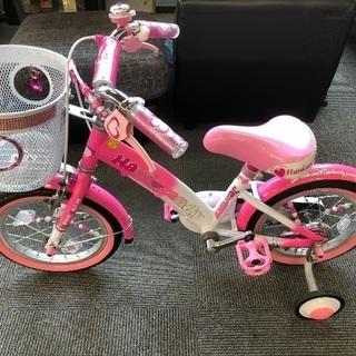 子供用自転車 ピンクで可愛い 保管状況屋内