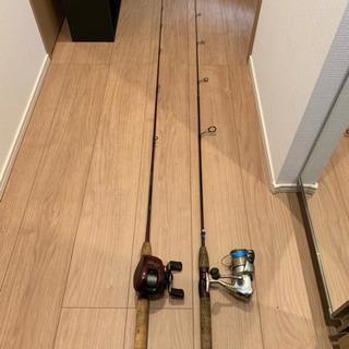 シマノブラックバスルアー竿(2本セット)