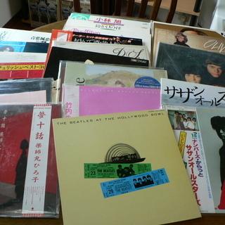 LPレコード 約20枚無料(ビートルズ、オリビア、サザン、竹内ま...