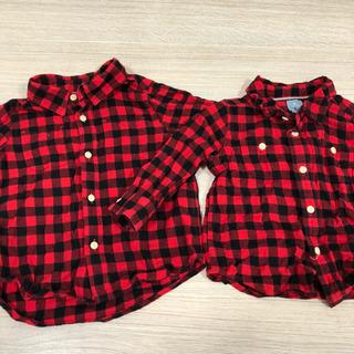 GAP baby チェックシャツ 90cm 70cm
