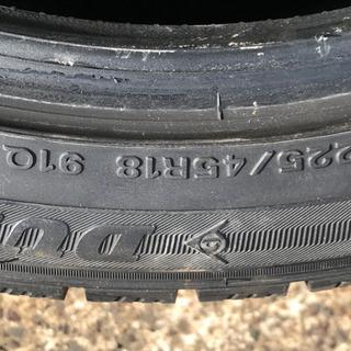 中古品スタッドレスタイヤ4本、ホイール無し225/45R18