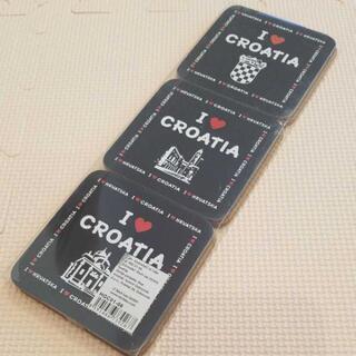 クロアチア土産★コルクコースター
