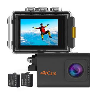 【新品・未開封】アクションカメラ 4K高画質 手振れ補正 自撮り棒付属