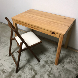 (椅子なし机のみ) 無印良品 木製机 勉強机 パソコンデスクの画像