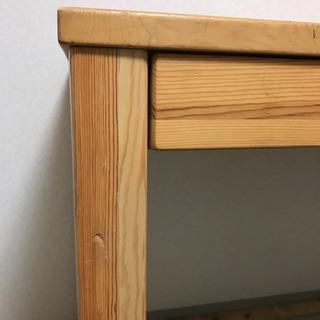 (椅子なし机のみ) 無印良品 木製机 勉強机 パソコンデスク - 家具