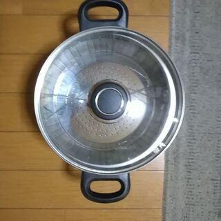 アルミ 底三層両手鍋 20cm 新品未使用