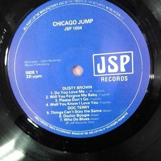 Chicago Jump / Dusty Brown–Doc Terry–Jimmy Lee Robinson-Johnny Littlejohn レコード UK盤 - 本/CD/DVD