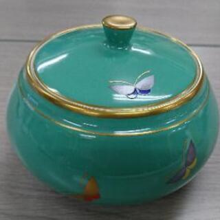 香蘭社 蓋物 蝶 金彩 キャンディーポッド 菓子器