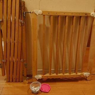 訳あり 木製ベビーゲート 木製ベビーフェンス 2個セット
