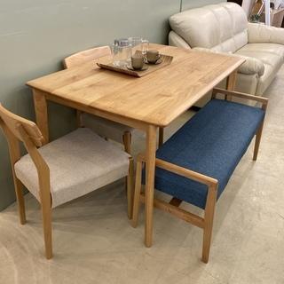 ニトリ ダイニングテーブル4点セット テーブル チェア ベンチ ...
