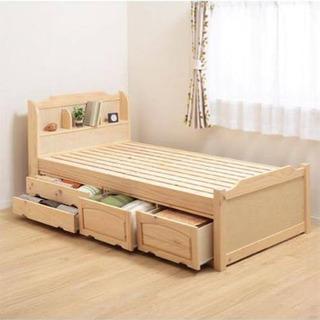 ニトリ シングルベッド 下収納付き
